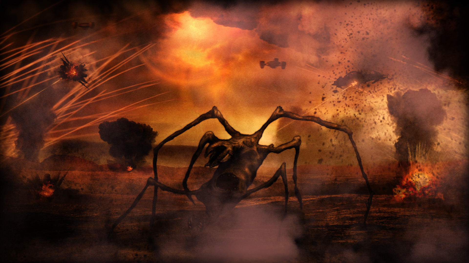 An X-Class Demon pushes on under heavy fire from U.S Fieldships.