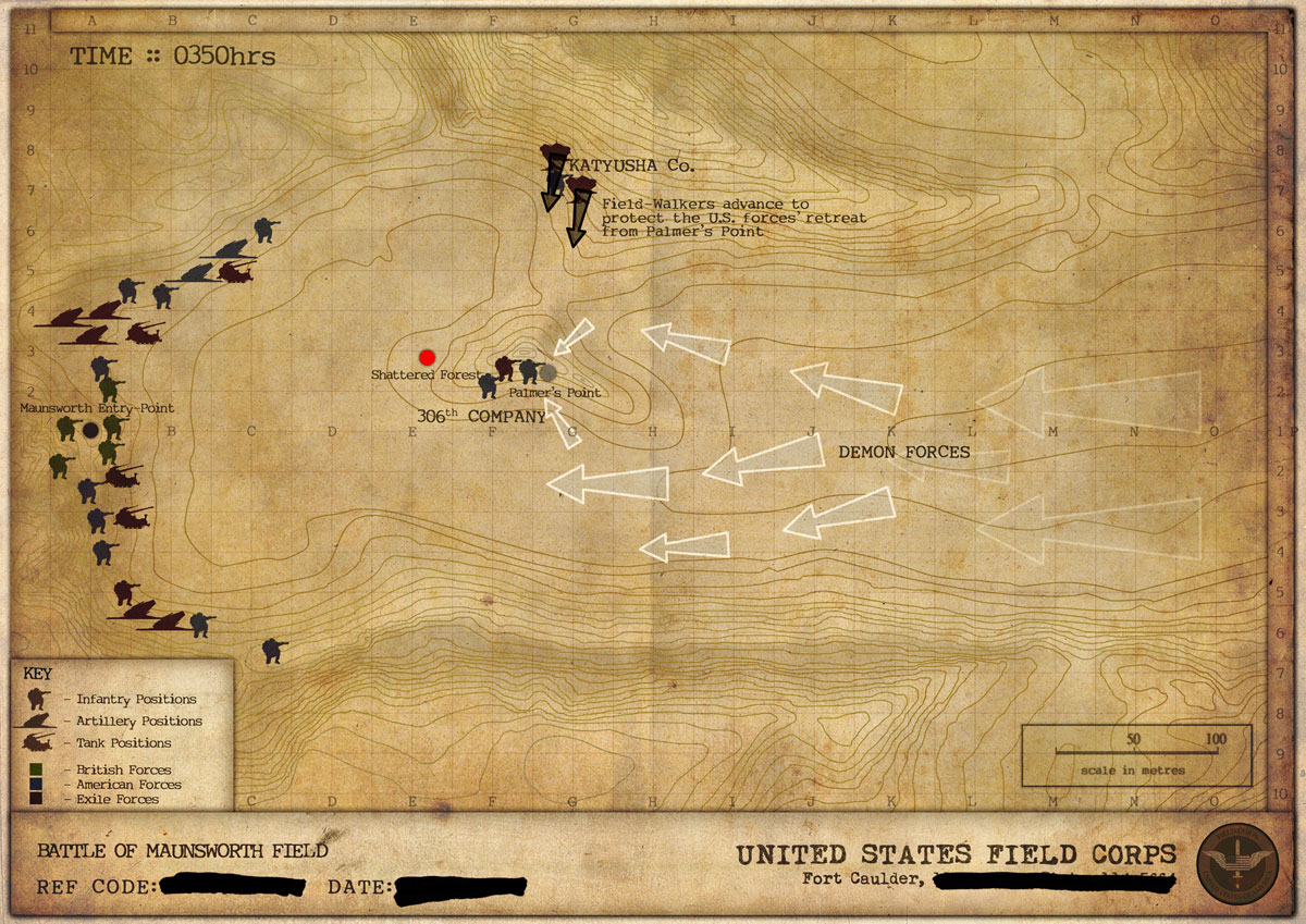 Map of the Battle - 0350hrs