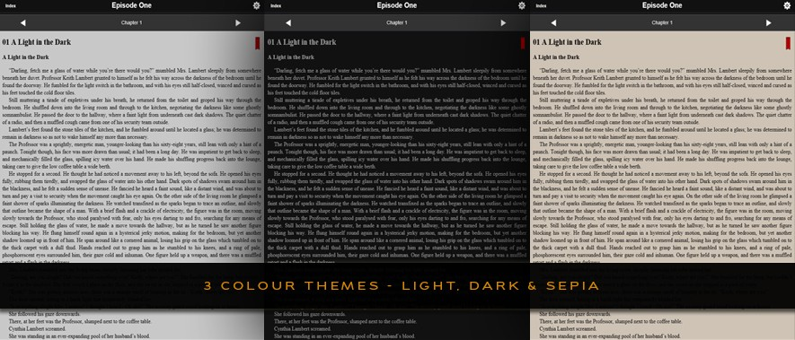 The Hevenfield e-Book - 3 different colour themes