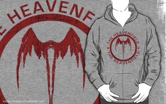 Heavenfield Fallen Angel Logo - (Red) - Hoodie