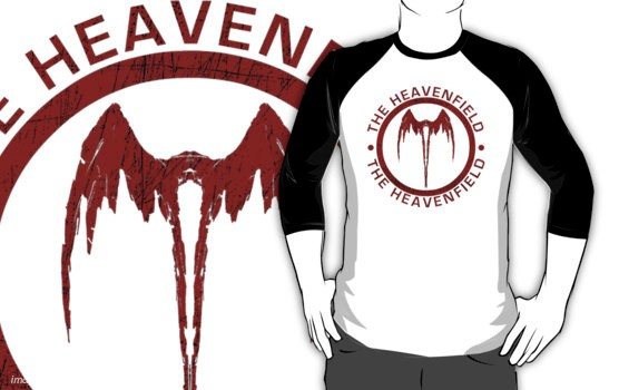 Heavenfield Fallen Angel Logo - (Red) - T-Shirt
